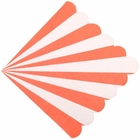 "Scallop Striped Tangerine Paper Napkins 6.5"" 20pcs"