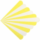 "Scallop Striped Yellow Paper Napkins 6.5"" 20pcs"