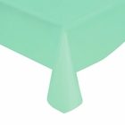 "Seafoam Solid Plastic Tablecloth 54"" X 108"""