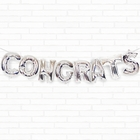 "Silver Congrats 16"" Foil Balloon Decorating Kit"