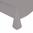 "Silver Solid Plastic Tablecloth 54"" X 108"""