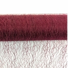 CLEARANCE Sisal Mesh Fabric Roll 20in x 5 yards Burgundy