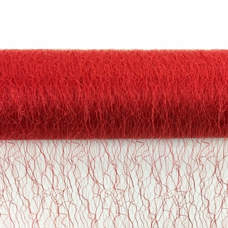 CLEARANCE Sisal Mesh Fabric Roll 20in x 5 yards Red