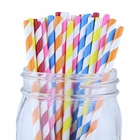 Striped Paper Straws (100pcs, Striped, Assorted Colors)
