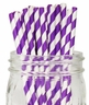 Striped Paper Straws 25pcs Purple