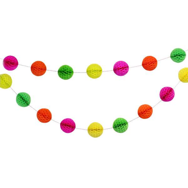 Summer Sorbet Mini Honeycomb Ball Garland Decorating Kit