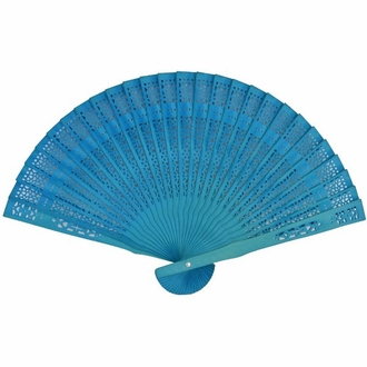 Teal 8inch Sandalwood Hand Fan