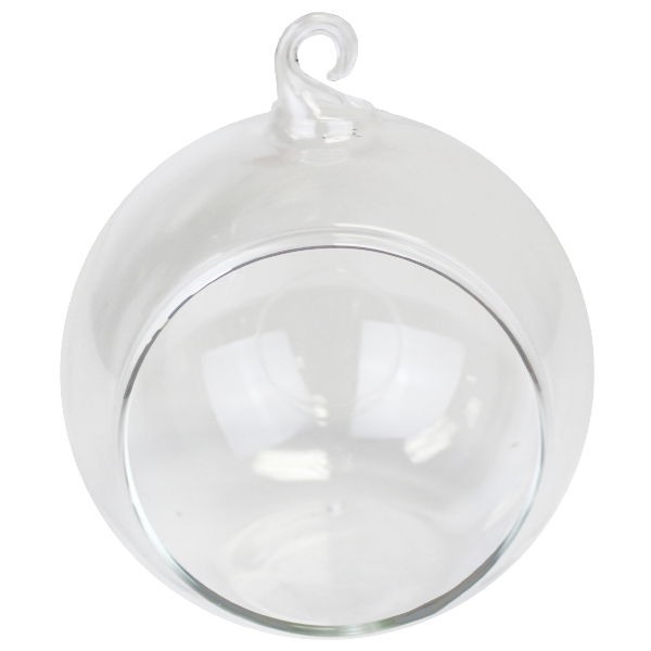 Terrarium Hanging Glass Candle Holder 3in