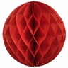 Tissue Paper Honeycomb Ball 4inch Red
