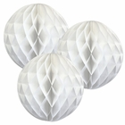 Tissue Paper Honeycomb Ball (Set of 3, 12inch, White)