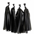 Tissue Paper Tassel Kit 4 Tassels Black
