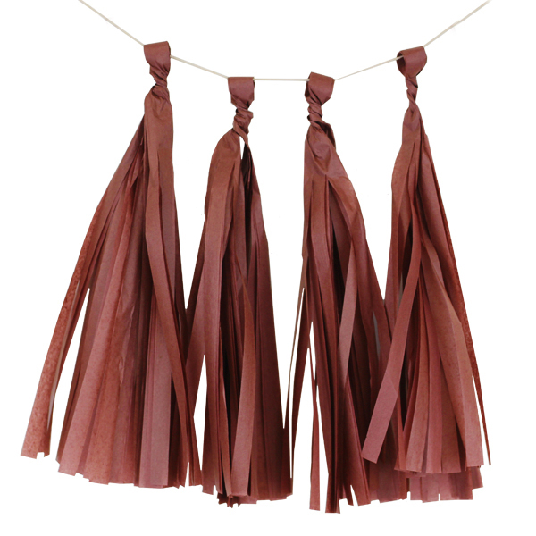 Tissue Paper Tassel Kit 4 Tassels Chocolate