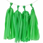 Tissue Paper Tassel Kit 4 Tassels Green Apple