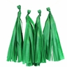 Tissue Paper Tassel Kit 4 Tassels Kelly Green