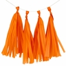 Tissue Paper Tassel Kit 4 Tassels Orange