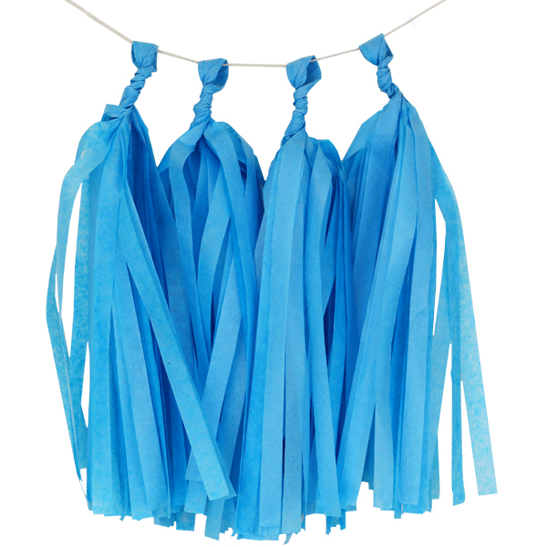 Tissue Paper Tassel Kit 4 Tassels Powder Blue