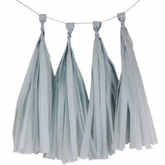 Tissue Paper Tassel Kit 4 Tassels Steel Blue