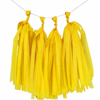 Tissue Paper Tassel Kit 4 Tassels Yellow