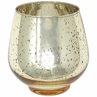 "Tulip Mercury Glass Votive Candle Holder 4""H Speckled Gold"