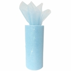 Tulle Fabric Roll 6in Glitter Sky Blue