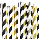 Tuxedo Paper Straw Decorating Kit