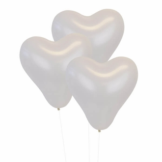 White 12 inch Heart Latex Balloon 100pcs