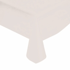 "White Solid Plastic Tablecloth 54"" X 108"""