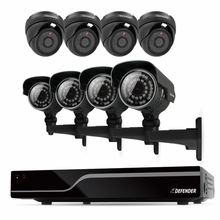 Defender Sentinel 8CH H.264 500GB Smart Security DVR with 4 Bullet /4 Dome Cameras, IR Cut Filter, 600TVL and Night Vision (21063)