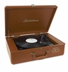 Electrohome Archer Vinyl Record Player Classic Turntable Stereo System with Built-in Speakers, USB for MP3s, Headphone Jack, & AUX Input for Smartphones, Tablets - Saddle Brown (EANOS300S)