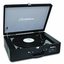 Electrohome® Archer™ Vinyl Turntable Record Player Stereo System with Built-in Speakers & USB/AUX Input for Smartphone, Tablets, & MP3 Players