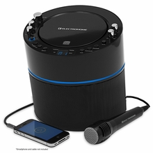 Electrohome EAKAR300 Karaoke CD+G Player Speaker System with MP3, Smartphone, Tablet, 2 Microphone Connections, & Auxiliary input for Smartphone, Tablet, & MP3 Players