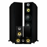 Fluance Signature Series Hi-Fi 5.0 Surround Sound Home Theater Speaker System Including Three-way Floorstanding Towers, Center & Rear Speakers (HFHTB) – Onyx Black