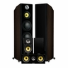 Fluance Signature Series Hi-Fi 5.0 Surround Sound Home Theater Speaker System Including Three-way Floorstanding Towers, Center & Rear Speakers (HFHTBW) – Natural Walnut