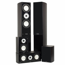 High Performance 5 Speaker Surround Sound Home Theater System - Dark Walnut (XLHTB-DW)