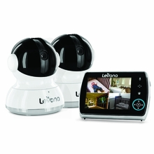 "Levana® Keera™ 3.5"" LCD, Pan/Tilt/Zoom Digital Baby Video Monitor with 10hr Battery, Touch Panel, Talk to Baby™ Intercom & SD Video Recording - 2 Camera System (32016)"