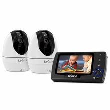 """Levana Ovia™ 4.3"""" PTZ Digital Baby Video Monitor with Photo and Video SD Recording, 2 Night Vision Cameras, Talk to Baby Intercom-32033"""