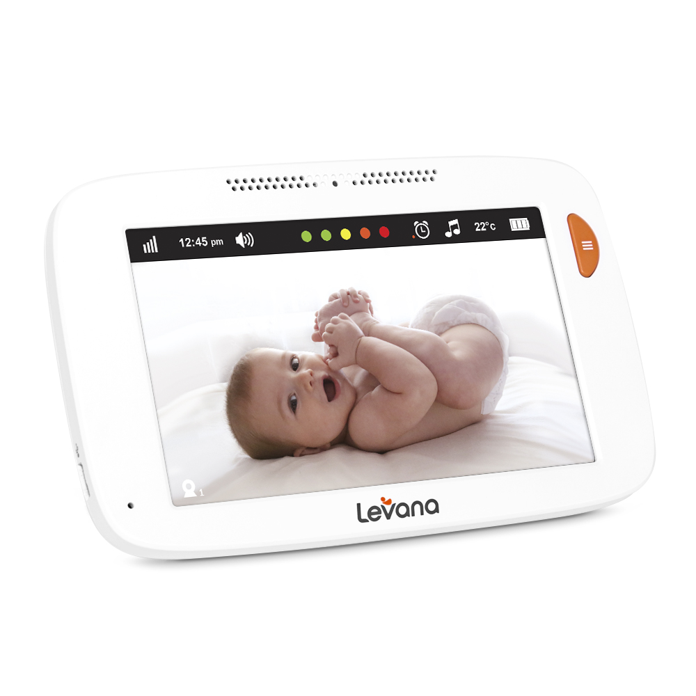 levana willow 5 touchscreen high definition pan tilt zoom video baby monitor with feeding nap. Black Bedroom Furniture Sets. Home Design Ideas