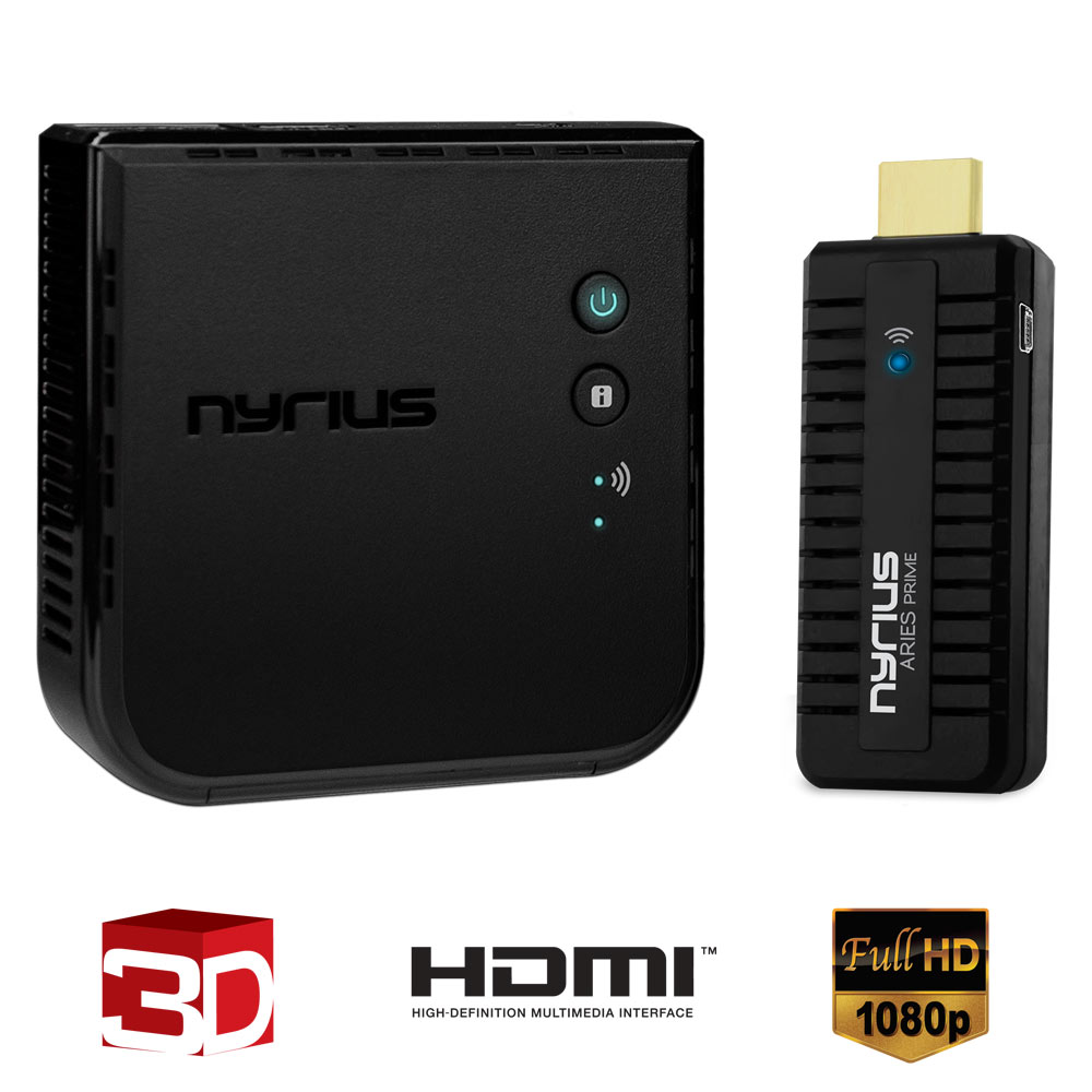 nyrius aries prime digital wireless hdmi transmitter receiver system for hd 1080p 3d video. Black Bedroom Furniture Sets. Home Design Ideas