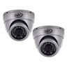 Ultra High Resolution Indoor/Outdoor Dome Security Cameras with 65ft Night Vision & 600 TVL (2 Pack)-11178