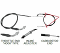 Chinese Parts - T2 Hook Style T2-430 Throttle Cables from Atv-Quads-4Wheeler.com