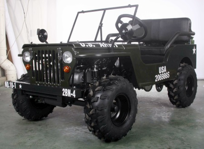 Jeep Willys Series 1 Off-Road 125cc Go-Kart - Calif Legal