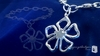Flower Charm Bracelet in Sterling Silver, 7""