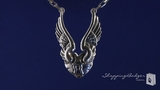 "RockLove Winged Heart Sterling Silver Necklace, 16"" or 18"""