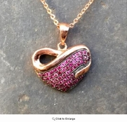 Rose Gold Infinity CZ Heart