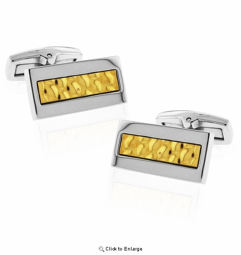 Stainless and Gold-tone Steel Cufflink