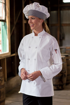 10 Knot Poly-Cotton Chef Coat