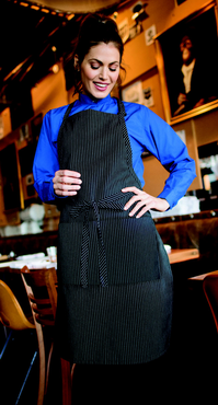 Butcher Apron With Divided Patch Pocket