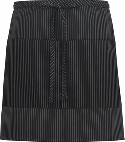 Cafe Apron with Divided Patch Pocket