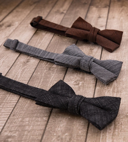 Crosshatch Textured Bow Tie