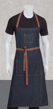 Denim Server Multi-Pocket Bib Apron